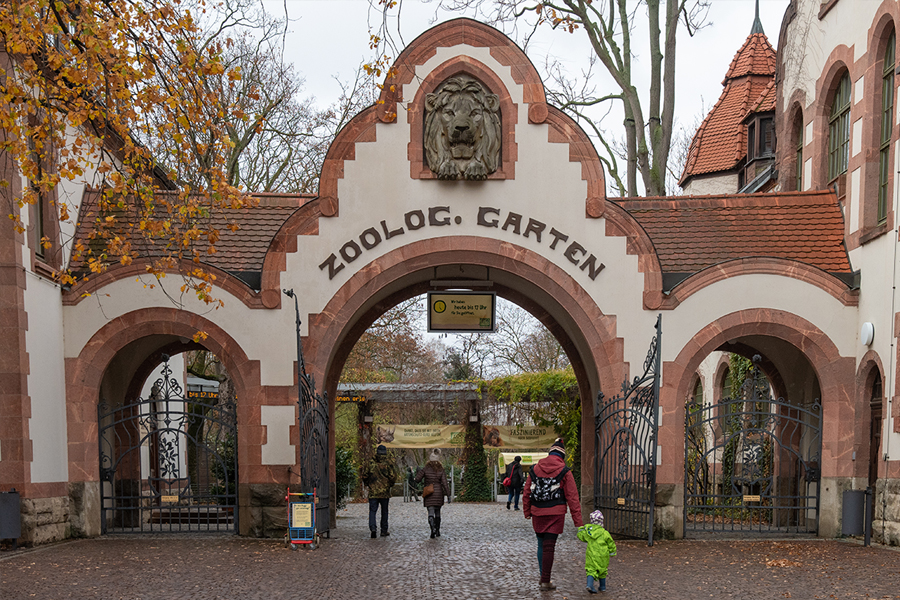 The Leipzig Zoo Entrance