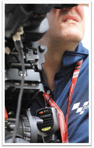 MotoGP audience and staff members utilising Kenwood products