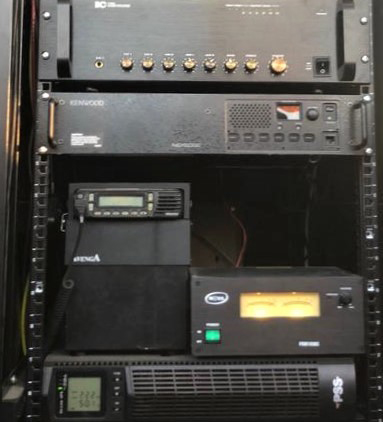 Upgraded system to increase coverage and improve audio quality of the two-way radios