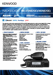 NX-3000 mobile radio brochure