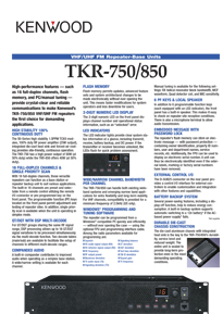 TKR-750E (VERSION 2) Brochure