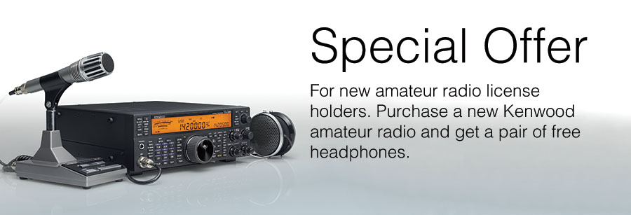 Kenwood Amateur Radio Special Offer for new amateur radio license holders