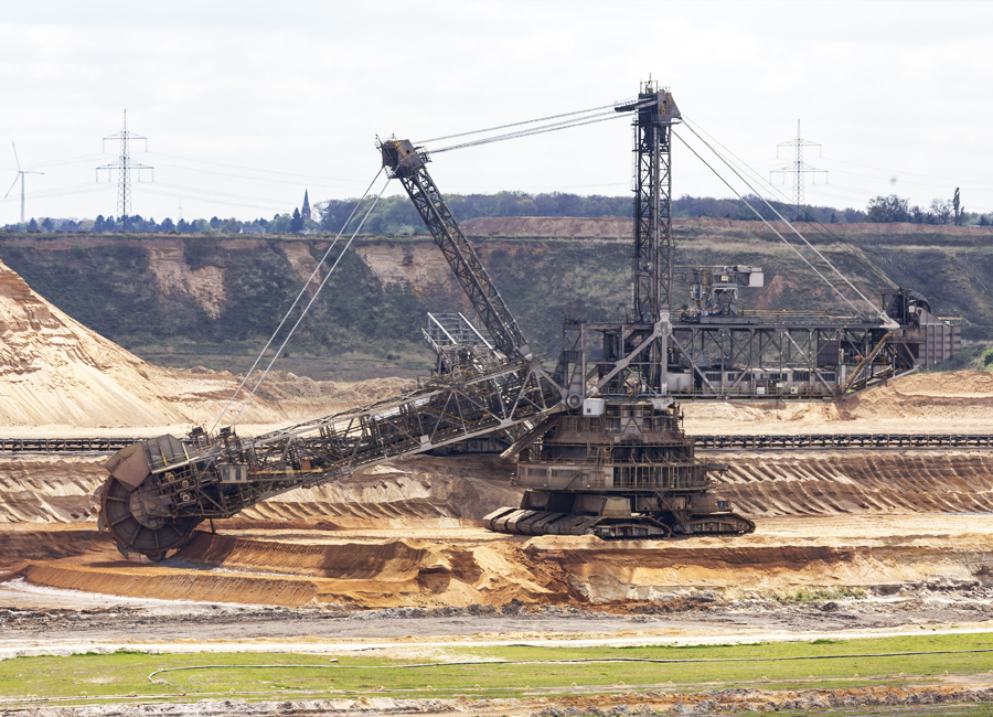 Mining industry combines the latest technology, machinery and human skills