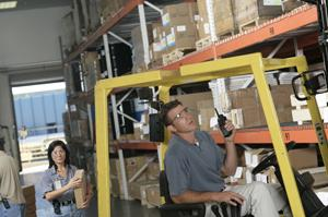 Warehouse mobile communications